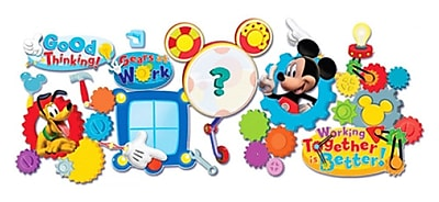 Eureka® Mickey Mouse Clubhouse® Bulletin Board Set, Working Together Is Better (EU-847008)