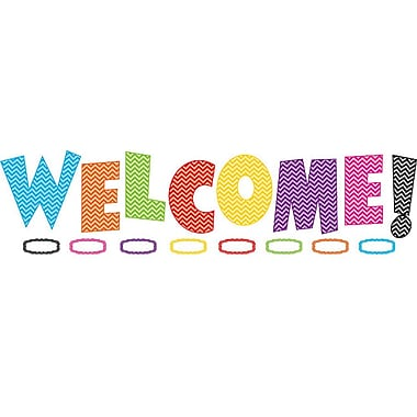 Teacher Created Resources Bulletin Board Display Set, Chevron Welcome (TCR5524)