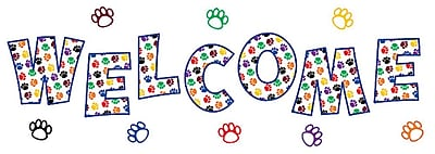 Teacher Created Resources Bulletin Board Display Set, Paw Prints Welcome (TCR5439)