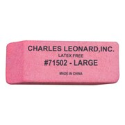 Charles Leonard Large Synthetic Wedge Eraser, Pink, 120/Pack (CHL71502)