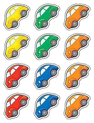 Teacher Created Resources Mini Accents, Cartoon Cars, 2-5/8