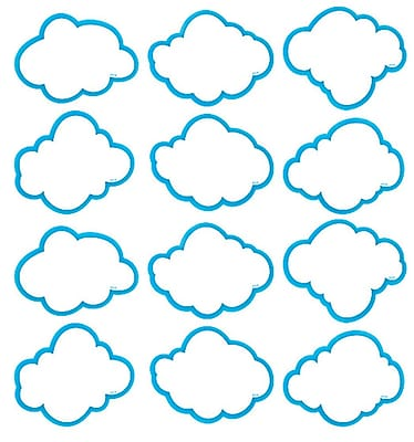Teacher Created Resources Mini Accents, Cloud, 2-5/8