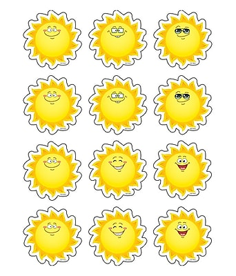 Teacher Created Resources Mini Accents, Happy Suns, 2-5/8