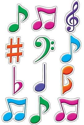 Teacher Created Resources Mini Accents, Musical Notes, 2-5/8
