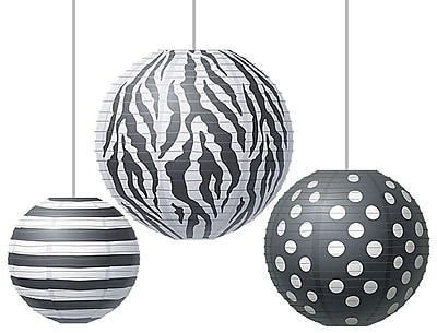 Teacher Created Resources Round Paper Lantern, Big Bold Black & White (TCR77101)