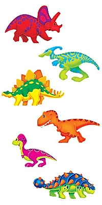 """""Trend Enterprises Dino-Mite Pals 5 1/2"""""""" Classic Accents Variety Pack, Dinosaurs, 36/Pack"""""" 1011544"