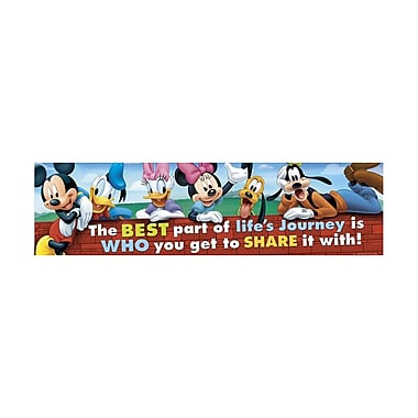Eureka® Kindergarten - 3rd Grade Friendship Classroom Banner, Mickey