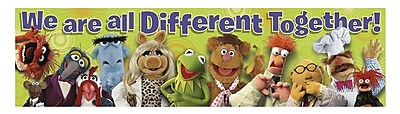 Eureka Straight Muppets Different Together Classroom Banner, Multicolor, 45
