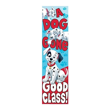 Eureka® PreK - 12th Grade Dog Gone Good Class Vertical Banner, 101 Dalmatians