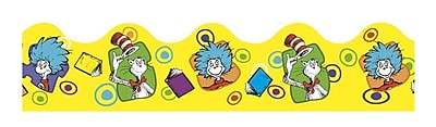 Eureka® Extra Wide Die-Cut Deco Trim, Dr. Seuss, Yellow, PreK - 12th Grade (EU-845242)
