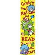 "Eureka 849033 45"" x 12"" Straight Dr. Seuss Grab Your Hat Banner, Multicolor"