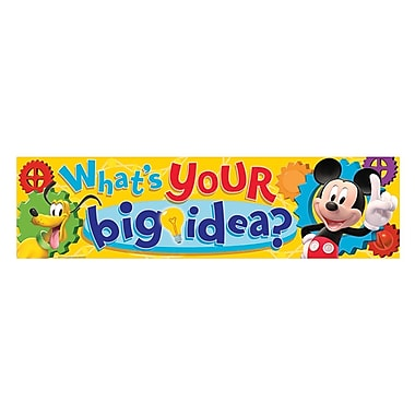 Eureka® PreK - 12th Grade What's Your Big Idea? Classroom Banner, Mickey Mouse Clubhouse