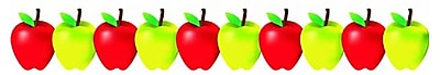 Hygloss Classroom Border, Green and Red Apples, Infant - 12th Grade (HYG33650)