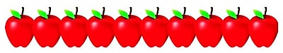 Hygloss Classroom Border, Red Apples, Infant - 12th Grade (HYG33648)