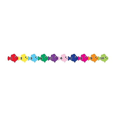 Hygloss Scalloped Counting in Spanish Fish Classroom Borders, Multicolor, 36