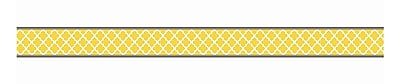 Teacher Created Resources Straight Animal Prints, Moroccan, Safari Double Sided Borders, Lemon/Gray, 36