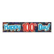 Teacher Created Resources Kindergarten - 12th Grade Banner, Fireworks Happy 100th Day