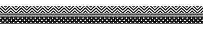 Teacher Created Resources Border Trim, Black/White Chevrons & Dots, Toddler - 12th Grade (TCR5543)