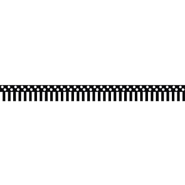 Teacher Created Resources Border Trim, Black/White Stripes & Polka Dots, Toddler - 12th Grade (TCR5501)