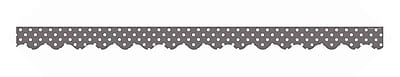 Teacher Created Resources Border Trim, Gray Polka Dots, Toddler - 12th Grade (TCR5495)