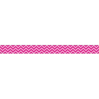 Teacher Created Resources Border Trim, Hot Pink Chevron, Toddler - 12th Grade (TCR5541)