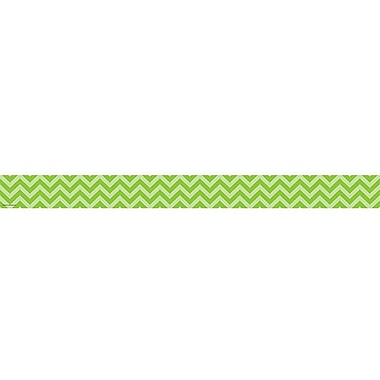 Teacher Created Resources Straight Chevron Border Trim, Lime, 35
