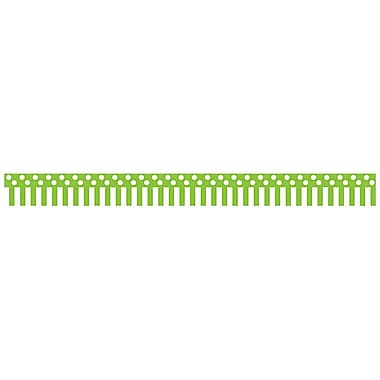 Teacher Created Resources Toddler - 12th Grade Border Trim, Lime/White Stripes & Polka Dots