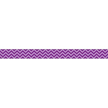Teacher Created Resources Straight Chevron Border Trim, Purple, 35