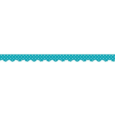 Teacher Created Resources Border Trim, Teal Polka Dots, Toddler - 12th Grade (TCR5494)
