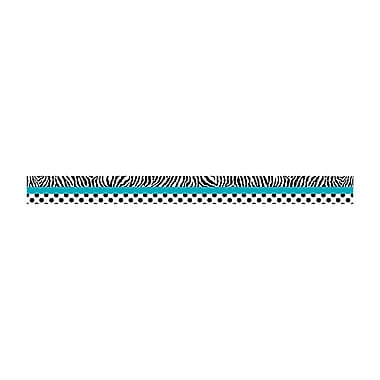 Teacher Created Resources Border Trim, Zebra & Dots, Toddler - 12th Grade (TCR5504)