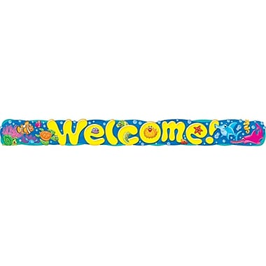TREND T-25085 10' Straight Welcome Sea Buddies Quotable Expressions Banner, Multicolor