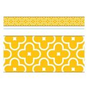 Trend Enterprises® Toddler - 12th Grade Bolder Border, Gold Floral