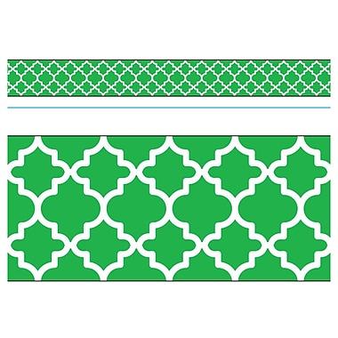 Trend Enterprises® Toddler - 12th Grade Bolder Border, Green Moroccan