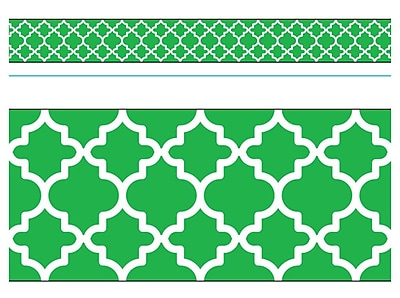 Trend Enterprises® Toddler - 12th Grade Bolder Border, Green Moroccan, 11/Pack