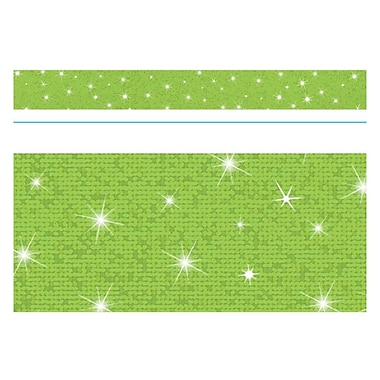 Trend Enterprises® Toddler - 12th Grade Sparkle Bolder Border, Lime
