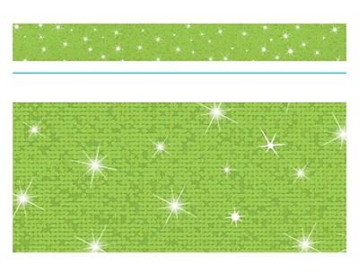 Trend Enterprises® Toddler - 12th Grade Sparkle Bolder Border, Lime, 10/Pack