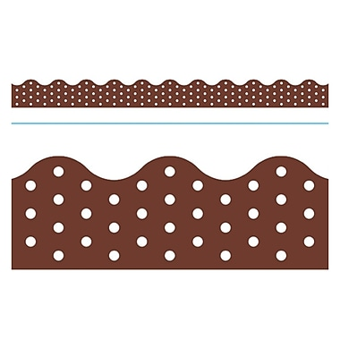 Trend Enterprises® Toddler - 12th Grade Terrific Trimmer, Chocolate Polka Dots