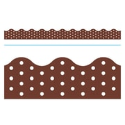 Trend Enterprises® Toddler, 12th Grade Terrific Trimmer, Chocolate Polka Dots (T-92668)