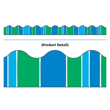 Trend Enterprises® Toddler - 12th Grade Terrific Trimmer, Cool Blue Stripe-Tacular