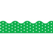 "TREND T-92661 39"" x 2.25"" Scalloped Polka Dots Terrific Trimmer, Green"