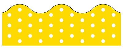 Trend Enterprises® Toddler - 12th Grade Terrific Trimmer, Yellow Polka Dots, 12/Pack