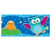 "TREND T-85125 35.75' x 2.75"" Straight Owl-Stars! Bolder Borders, Blue"