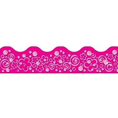 Trend Enterprises® Toddler - 6th Grade Terrific Trimmer, Pink Bubbles/Flowers/Swirls