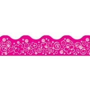 Trend Enterprises® Toddler - 6th Grade Terrific Trimmer, Pink Bubbles/Flowers/Swirls, 12/Pack