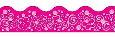 Trend Enterprises® Toddler - 6th Grade Terrific Trimmer, Pink Bubbles/Flowers/Swirls, 12/Pack
