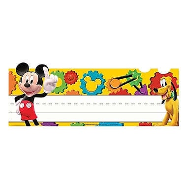 Eureka® Mickey Mouse Clubhouse® Tented Name Plates, Mickey Gears, PreK - 12th Grade (EU-843504)