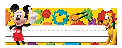 Eureka® Mickey Mouse Clubhouse® Tented Name Plates, Mickey Gears, PreK - 12th Grade (EU-843504)
