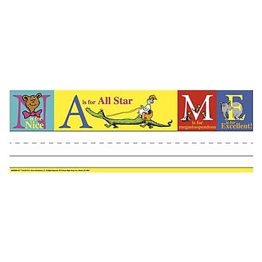 Eureka® Prek - 12th Grade Tented Name Plate, Dr. Seuss™ ABC