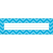 Teacher Created Resources All Grade Flat Name Plate, Aqua Chevron