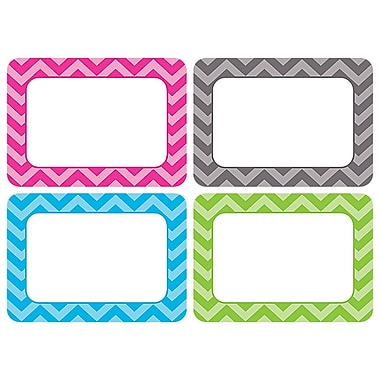 Teacher Created Resources All Grade Name Tags/Label, Chevron, Multi-Pack